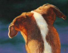 """Daily Paintworks - """"Sophies Ears"""" - Original Fine Art for Sale - © Irina Cumberland"""