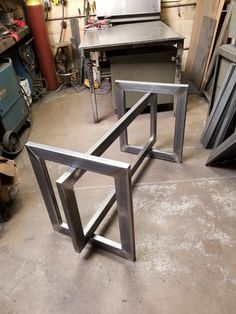 Base for Glass top. Model -Table Base for Glass top. Model - Table Base 28 H x 28 W x 72 L Bracket Table Base Welded Furniture, Industrial Design Furniture, Iron Furniture, Bedroom Furniture Design, Steel Furniture, Table Furniture, Home Furniture, Furniture Showroom, Repurposed Furniture