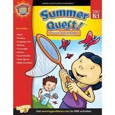 Summer Quest E-Books by Carson-Dellosa, available for grades K-4