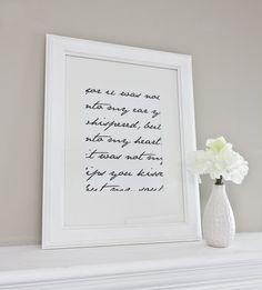 Custom Script Quote or Lyrics Art Print / Choose by jennasuedesign