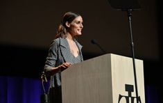 Influencer Olivia Palermo speaks on stage during 2018 Fragrance Foundation Awards at Alice Tully Hall at Lincoln Center on June 12 2018 in New York...