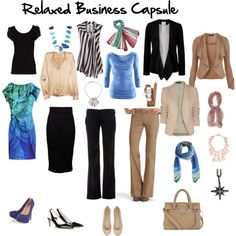 Relaxed business casual wardrobe capsule via Inside Out Style blog