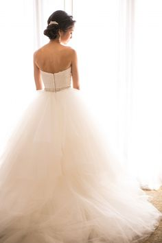 Tulle Ball Skirt Bridal Gown | photography by http://www.stewartuy.com