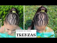 🔴 Peinados Fáciles y de moda para niñas / TRENZAS pegadas cruzadas /WILVITA 2019❤ - YouTube How To Curl Your Hair, Blow Dry, Damaged Hair, Perm, Hair Type, Hair Looks, Healthy Hair, Natural Hair Styles, Sayings