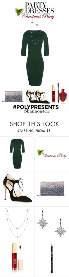 """""""Christmas dress"""" by shannon415 ❤ liked on Polyvore featuring Jimmy Choo, Kwiat, contestentry, HolidayParty, Christmasoutfit and polyPresents"""