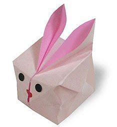 Origami Páscoa Caixa Coelho ~ Arte De Fazer | Decoração e Artesanato