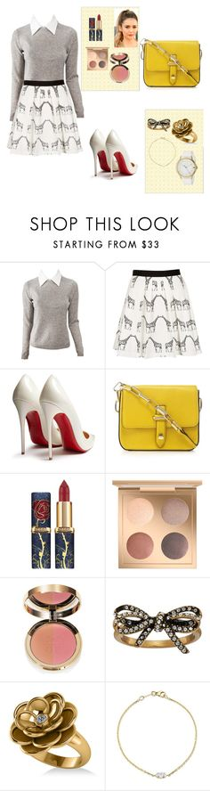 """""""Untitled #346"""" by vykabackhand ❤ liked on Polyvore featuring Alice + Olivia, Topshop, Christian Louboutin, Ciaté, Marc Jacobs, Allurez and Tommy Hilfiger"""