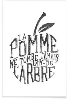 La pomme et l'arbre als Premium Poster von Jonattend | JUNIQE