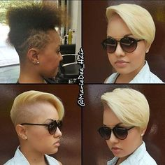 VoiceOfHair (Stylists/Styles) @voiceofhair Instagram photos | Websta Hair And Nails, Blonde Hair, Blonde Fringe, Short Relaxed Hairstyles, Short Haircuts, Dope Hairstyles, Shaved Hairstyles, Cut Life, Short Cuts
