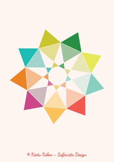 DOWNLOADABLE NINE Pointed STAR / Geometric by SafaristaDesign