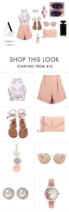 """""""Rose"""" by nikus10030 on Polyvore featuring Finders Keepers, Yves Saint Laurent, Christian Dior, Miu Miu, Olivia Burton and Narciso Rodriguez"""