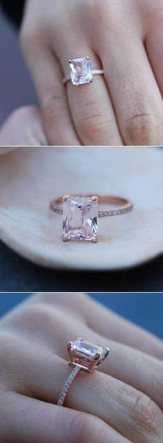 Peach Champagne Sapphire Engagement Ring. #lovelovelove!!