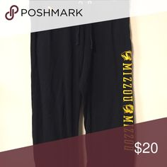 BF MU pants. Mizzou These are black VS MU MIZZOU tigers pants. They are boyfriend fit so they do fit bigger but the don't have pockets. They do have some piling but still super cute!! PINK Victoria's Secret Pants Track Pants & Joggers