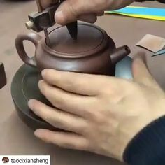 How to make a teapotYou can find Bowls design and more on our website.How to make a teapot Hand Built Pottery, Slab Pottery, Ceramic Pottery, Pottery Art, Pottery Tools, Thrown Pottery, Pottery Teapots, Ceramic Teapots, Ceramic Clay