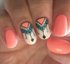 nail art facile ongles courts mandala-idées pour l'été