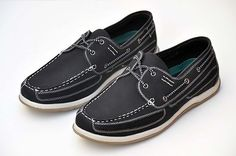 Men's Black Boat Shoes Faux Suede Lace Up Casual Loafers Comfy Soft Sizes H-BS02