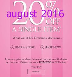 Free Printable Coupons: Victoria's Secret Coupons