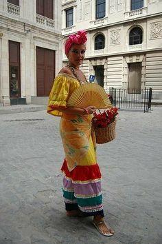 Cuban culture fashion and street style inspiration for your next travel destination Havana Party, Havana Nights Party, Cuban Dress, Carmen Miranda Costume, Cuban Women, Cuban Party, Cultures Du Monde, Cuban Culture, Mardi Gras Costumes