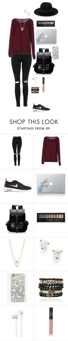 """""""Untitled #16"""" by mia-tox ❤ liked on Polyvore featuring Topshop, Fred Perry, NIKE, Vinyl Revolution, Wild Pair, Forever 21, Jules Smith, Nordstrom, Skinnydip and Samantha Wills"""