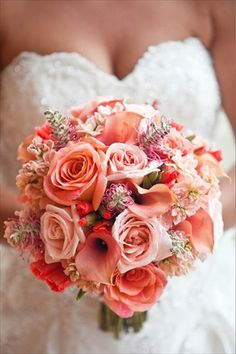 Bouquet for the wedding -want more white thro it Bridal Bouquet Coral, Pink Bouquet, Wedding Bouquets, Floral Bouquets, Purple Wedding, Floral Wedding, Wedding Colors, Wedding Flowers, Free Wedding