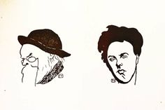 Our current exhibition is: Félix Vallotton. Fire Beneath the Ice.  The first woodcuts by Félix Vallotton show portraits of writers and musicians. In our library we have Le Livre des Masques, which contains several of these portraits. Two of them show the poets Paul Verlaine and Arthur Rimbaud. Vallotton made these woodcuts to illustrate the small biographies about the two writers and former lovers.