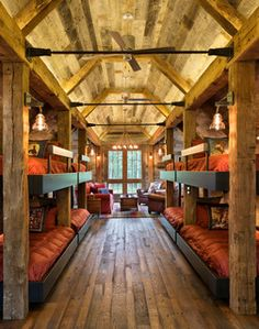 Northern Wisconsin Bunk House - Rustic - Bedroom - minneapolis - by John Kraemer & Sons