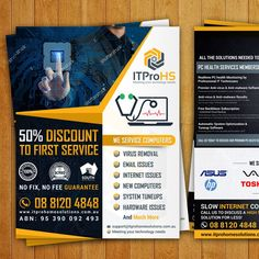 Create a modern flyer for a Computer Repair and Services Startup by Creativemirza.com