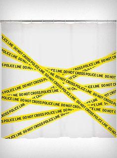 Crime Scene Shower Curtain, $12.98 | 30 Weird And Wonderful ShowerCurtains