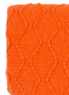 Throw rug orange zig zag pattern with fringing durable acrylic new fashion  Z