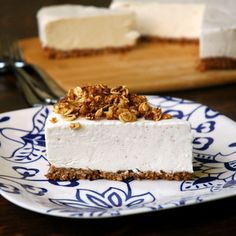 Almond Butter-Greek Yogurt Cheesecake with Coconut Granola Crust (A No ...