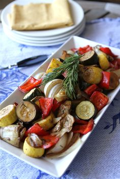 Balsamic Roasted Vegetables with Rosemary, Artichokes & Zucchini 4 by CookinCanuck, via Flickr