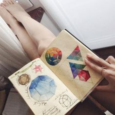 """""""Sketching and color mixing. And I think that cadmium red and prussian blue's mixture is a bad mix 
