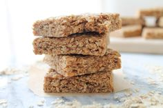 Sunflower Almond Oat Squares. Super easy to make. A wonderfully healthy, peanut free, gluten free snack. Chewy and no bake.