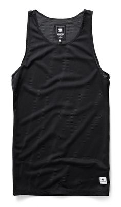 Lightweight mesh tank with bound tape edges at the neck and arm holes. Layer it over a tee or under a bomber. www.g-star.com