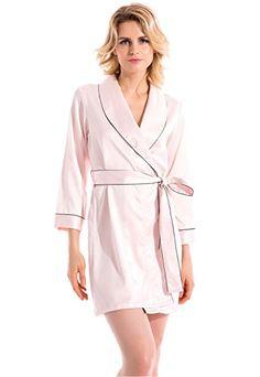 Vislivin Women s Sexy Kimono Style Satin Robe Lingerie Sleepwear Pink M    Want additional info  c399a5331