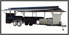 Custom Barbecue Trailers – GrillBillies Barbecue, LLC. Bbq Smoker Trailer, Custom Bbq Pits, Offset Smoker, Outdoor Kitchens, Smokers, Battleship, Food Truck, Trailers, Barbecue