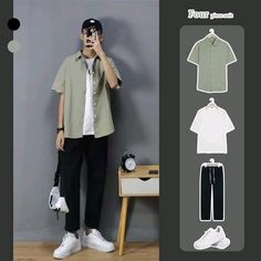 Kpop Fashion, Ootd Fashion, Fashion Men, Fashion Outfits, Travel Outfits, Boy Outfits, Summer Outfits, Korean Casual Outfits, Stylish Mens Outfits