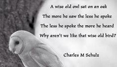 A wise old owl........