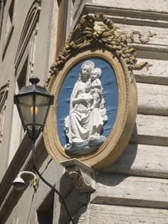 Photographs of Renaissance and Baroque roadside altars in Rome, Italy - In Italy Online.   Madonnella
