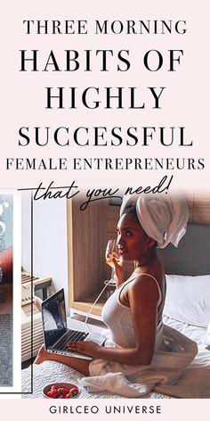Successful business women - Here are 3 morning habits of highly successful female entrepreneurs that you need. Get a look inside my daily routine as a female entrepreneur + other habits of highly successful people. Habits Of Successful People, Successful Women, Business Woman Successful, Successful Entrepreneurs, Creative Business, Inspiration Entrepreneur, Business Inspiration, Inspiration Quotes, Daily Inspiration