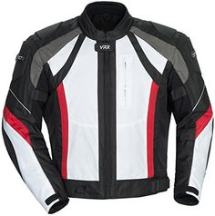 Special Offers - Cortech VRX Mens Textile Armored Motorcycle Jacket (White/Black/Red Large) - In stock & Free Shipping. You can save more money! Check It (August 07 2016 at 06:52AM) >> http://motorcyclejacketusa.net/cortech-vrx-mens-textile-armored-motorcycle-jacket-whiteblackred-large/