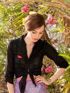 burda short wrap blouse