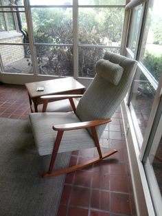 Danish Modern Rocking Chair On Our Three Season Porch. From An Antique Shop  In Milwaukee