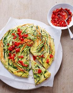 Rezept: Zucchini-Frittata mit Tomaten-Topping