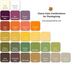 Stampin' Up! Color Inspiration: Classic Colors for Thanksgiving