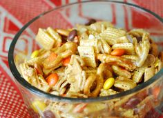 Fall Chex mix  Oh SO Delicioso!: Reese's Pieces Chex Mix