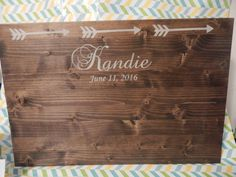 Wedding guestbook sign, wood guestbook sign, rustic wedding sign, wedding guestbook idea, arrow themed sign, rustic wedding decor sign, New Tradition wedding guestbook made of wood and arrows.  You can have people sign on the front and back!  Guests can sign with a paint pen or a sharpie