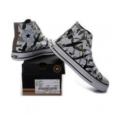 Converse Shoes Camo Gray Chuck Taylor All Star Gorillaz Classic Hi - Converse Shoes