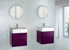Moon is Grespania's most modern and young style #bathroom #furniture collection.