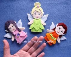 PDF Felt Fairy Finger Puppets No Sew Easy to Make Pattern Hanging Ornaments